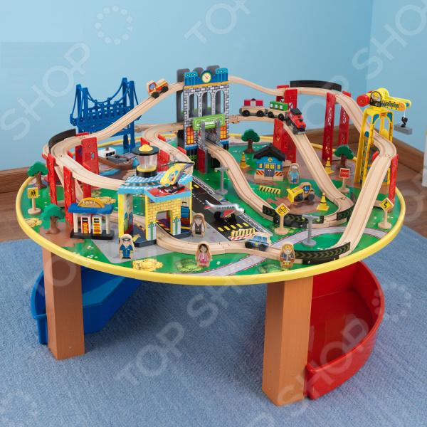 Набор железной дороги игрушечный KidKraft со столом «Наш город»