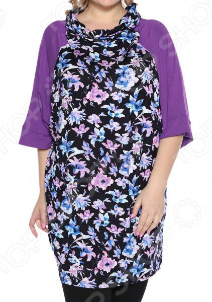 Туника Jenks «Привлекательный вид». Цвет: фиолетовый блуза jenks счастливое настроение цвет фиолетовый