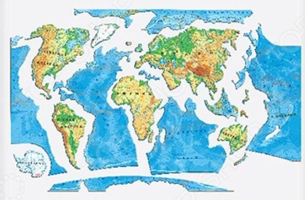 Пазл магнитный АГТ Геоцентр «Карта мира» атласы и карты геоцентр детская карта мира настольная