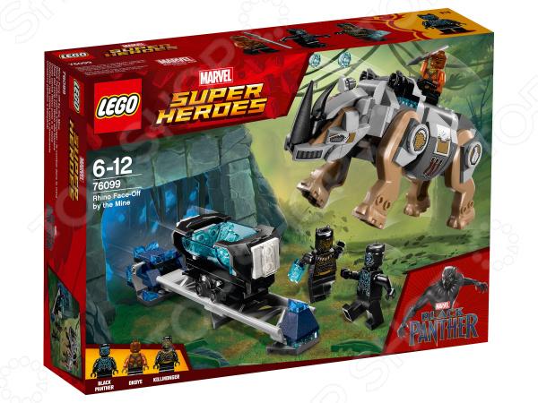Конструктор игровой LEGO Super Heroes «Поединок с Носорогом» конструктор lego marvel super heroes реактивный самолёт мстителей 76049