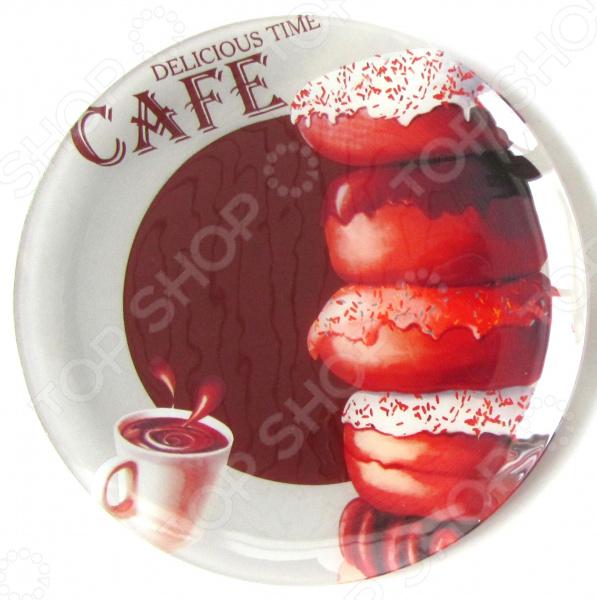 Тарелка десертная Zibo Shelley «Пончики шоколад»