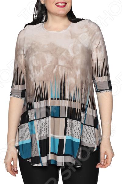 Блуза Max&Style «Элина». Цвет: голубой