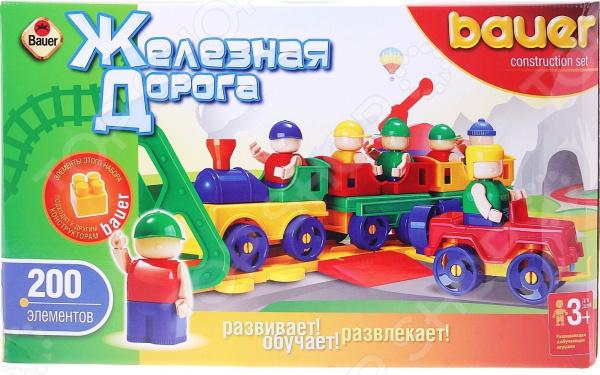 Конструктор игровой Bauer «Железная дорога» 23090 конструктор металлический железная дорога