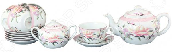 Чайный набор Elan Gallery «Орхидея на розовом»