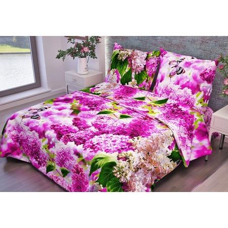 Купить Комплект постельного белья Fiorelly «Розовая сирень». Размерность: 1,5-спальное