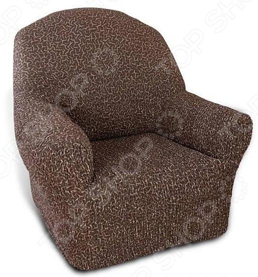 Zakazat.ru: Натяжной чехол на кресло Еврочехол «Плиссе. Мускат»