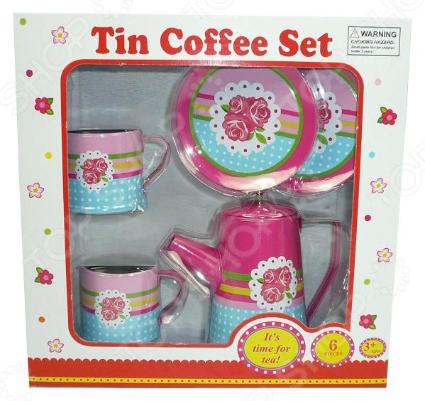 Набор посуды игрушечный 1 Toy «Кофейный сервиз» сервиз чайный со столовыми приборами игрушечный 1 toy я сама
