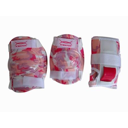 Купить Комплект защиты для роликовых коньков X-MATCH PW-308. Цвет: светло-розовый