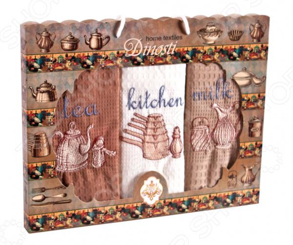Комплект из 3-х кухонных полотенец Dinosti «Английский завтрак»