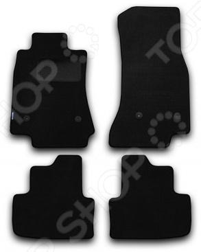 Комплект ковриков в салон автомобиля Novline-Autofamily Cadillac ATS 2013. Цвет: черный