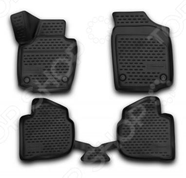 Комплект 3D ковриков в салон автомобиля Element Skoda Rapid 2013