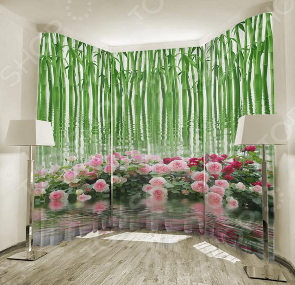 Фототюль ТамиТекс «Зеркальная гладь» фототюль тамитекс изящные розы