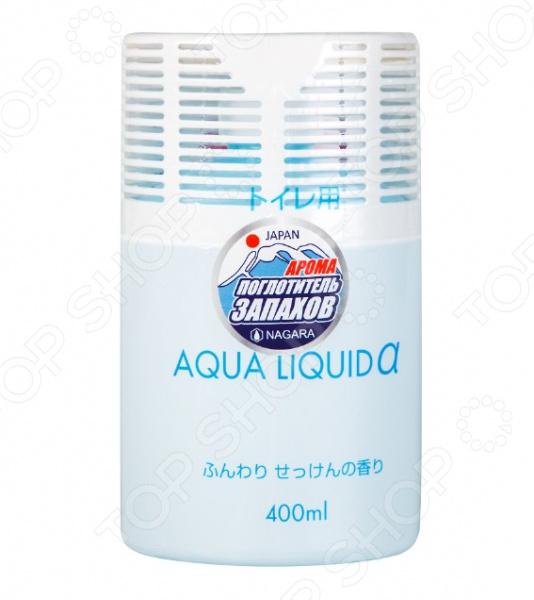 Арома-поглотитель запахов для туалета NAGARA Aqua liquid поглотители запаха nagara nagara aqua beads поглотитель запаха гелевый 360 гр