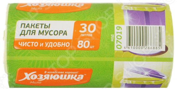 Пакеты для мусора Хозяюшка «Мила» 07019 пакеты для мусора хозяюшка мила с завязками 35 л 15 шт