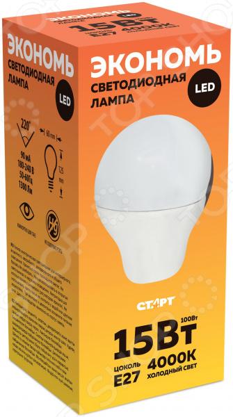 Лампа светодиодная Старт ECO LEDGLSE27 15W 40 eco friendly convenience automatic yogurt maker machine 15w 1l