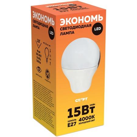 Купить Лампа светодиодная Старт ECO LEDGLSE27 15W 40