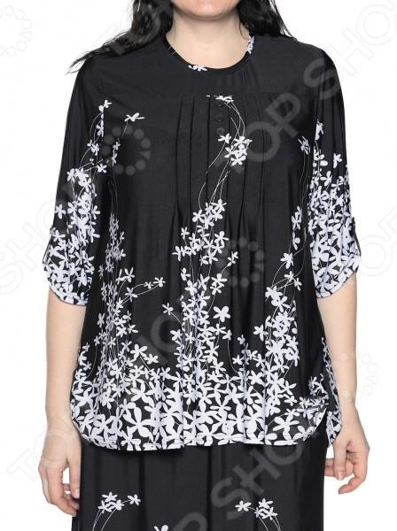 Блуза LORICCI «Грациозная особа». Цвет: черный. Размер: 60. Уцененный товар