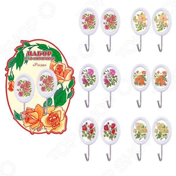Набор крючков Мультидом «Розы» FD27-18. В ассортименте