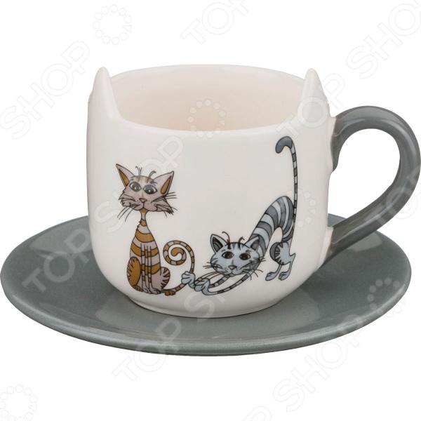 Чайная пара Lefard «Озорные коты» 188-100