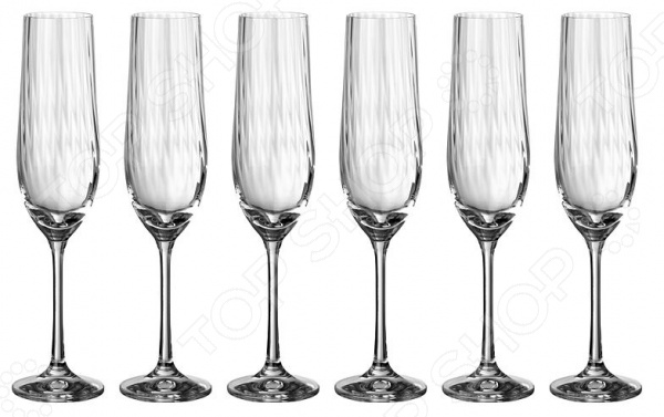 Набор бокалов для шампанского Bohemia Crystal Waterfall bohemia crystal набор бокалов для шампанского felina 25 см 2 шт