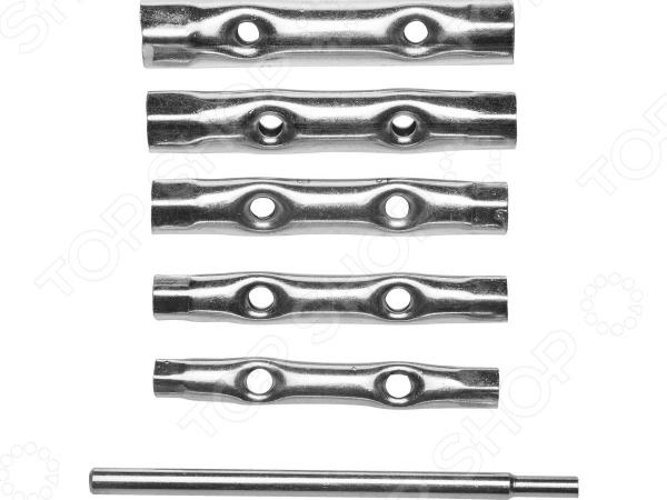 Набор ключей трубчатых DEXX 27192-H6 набор ключей накидных изогнутых stayer мастер 27151 h6