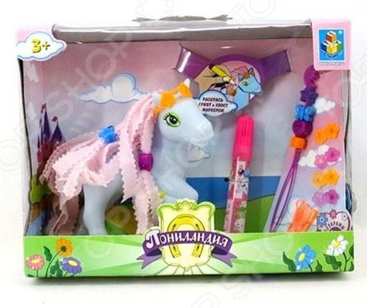 Набор пони с аксессуарами 1 Toy «Пониландия». В ассортименте Набор пони с аксессуарами 1 Toy «Пониландия» /