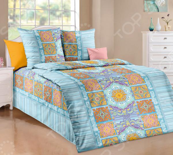 цена Комплект постельного белья Белиссимо «Санторини» онлайн в 2017 году