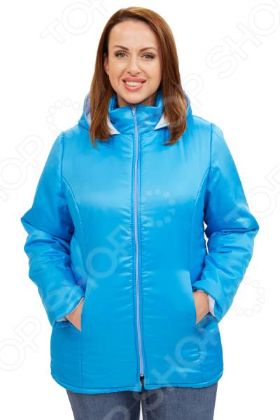 Куртка СВМ-ПРИНТ «Снежная леди». Цвет: голубой