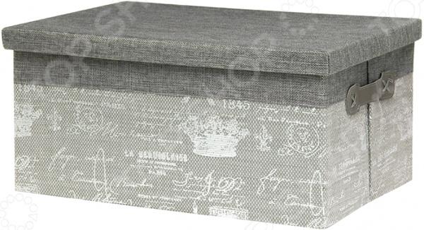 Кофр с крышкой EL Casa «Париж серебро»