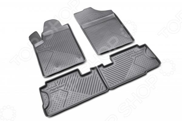 Комплект ковриков в салон автомобиля Novline-Autofamily Peugeot Partner 2008 блендер kelli kl 5021