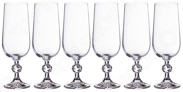 Набор бокалов для шампанского Crystalite Claudie 669-100