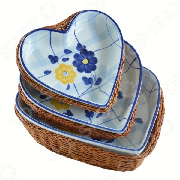 Набор керамических блюд 6 в 1 Mayer&Boch «Сердце» плетеные корзины из лозы купить краснодар