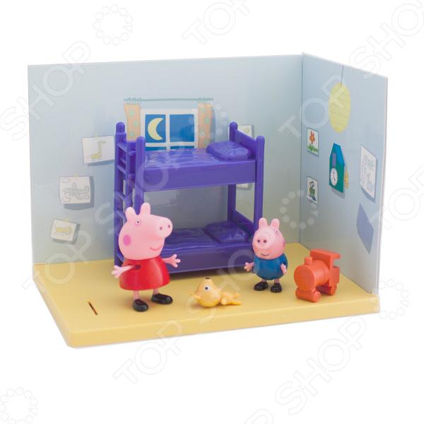 Игровой набор с фигурками Peppa Pig «Спальня Пеппы и Джорджа» недорого