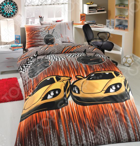 Детский комплект постельного белья Hobby Home Collection Speed. Цвет: желтый