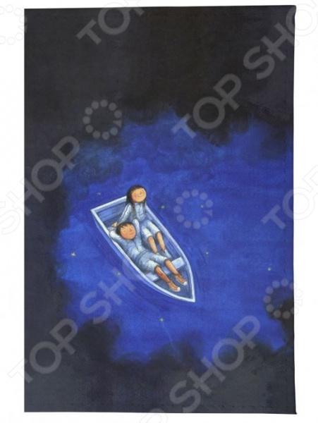 Обложка для паспорта кожаная Mitya Veselkov «Влюбленные в лодке ночью» обложка для паспорта mitya veselkov ежик ночью