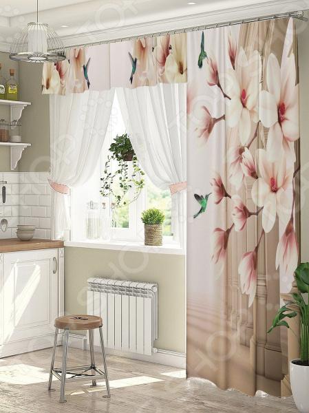 фото Комплект штор для окна с балконом ТамиТекс «Мечтатели», Шторы для окна с балконом