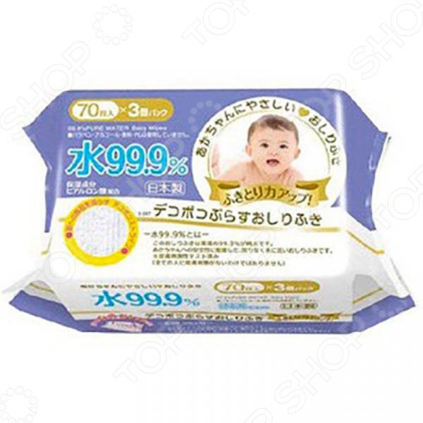 Салфетки влажные детские Iplus 99,9% воды с гиалуроновой кислотой