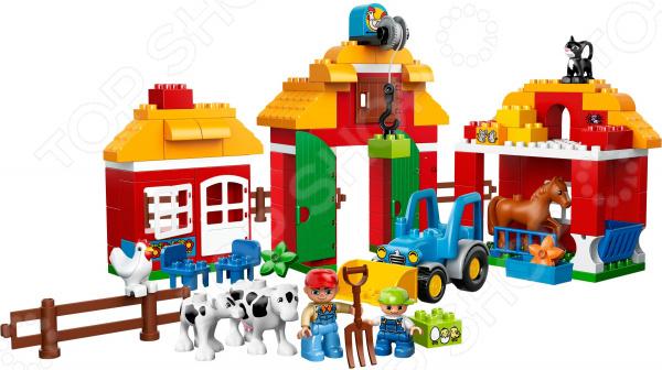 Конструктор LEGO Большая ферма это отличный конструктор для детей, в котором найдутся все необходимые детали для создания моделей с картинки. Большие детали подойдут для детей старше двух лет, они отлично различимы для ребенка и он точно поймет что с ними необходимо делать. Конструкторы такого типа развивают пространственное и логическое мышление, фантазию, творческие способности и мелкую моторику рук. Веселые персонажи, которые ребенок соберет сам долго будут радовать его.