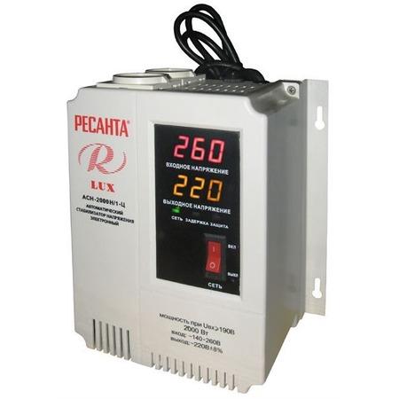 Купить Стабилизатор напряжения Ресанта АСН 2000 Н/1-Ц Lux