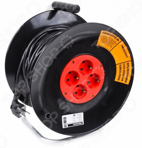 Удлинитель силовой на катушке PROconnect Standart с 4-мя гнездами аксессуар proconnect bnc 05 3076 4 7