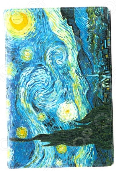 Визитница Mitya Veselkov «Ван Гог: Звездная ночь» визитница mitya veselkov ван гог терраса кафе ночью