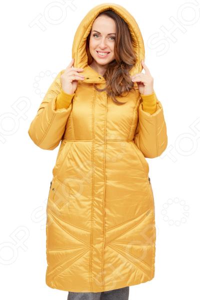 Пальто D`imma «Адела». Цвет: горчичный