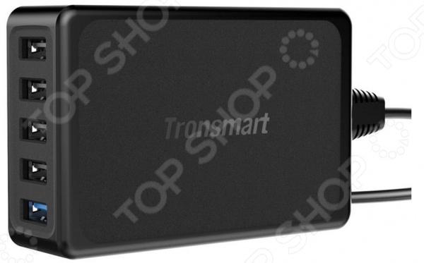 Устройство зарядное для сетевого оборудования Tronsmart U5PTA представлено 5 USB-портами вы можете заряжать одновременно до 5 гаджетов, что очень удобно! Это могут быть мобильные телефоны или планшеты, фото- и видеотехника, электронные книги и другая электроника.   4 стандартных порта VoltIQ USB type A 5 Вт.  VoltIQ автоматически определяет нужную силу тока 2,4 А максимум . Суммарная сила тока 7,2 А.  1 порт USB type A Quick Charge 3.0 3,6-6,5 Вт 3 А; 6,5-9 Вт 2 А; 12 Вт 1,5 А .