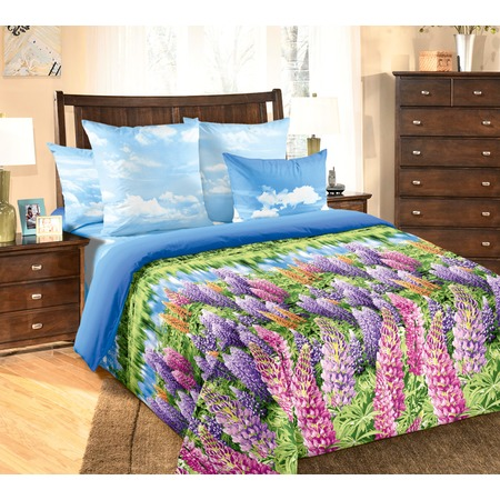 Купить Комплект постельного белья Королевское Искушение «Люпины». Евро