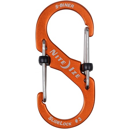 Карабин с блокировкой для мелочей NiteIze S-Biner SlideLock Aluminum