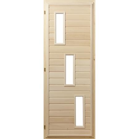 Купить Дверь со стеклопакетом Банные штучки «Прямоугольники» 32054