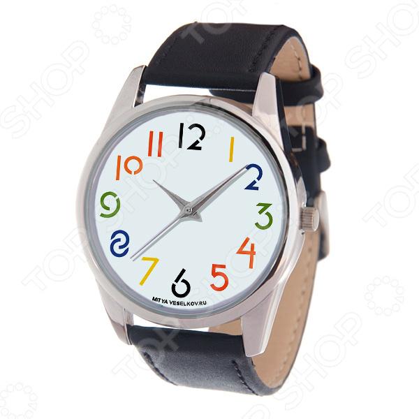 Часы наручные Mitya Veselkov «Разноцветные цифры» MV-220