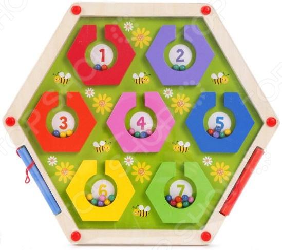Игрушка-лабиринт деревянная Mapacha «Пчелки»