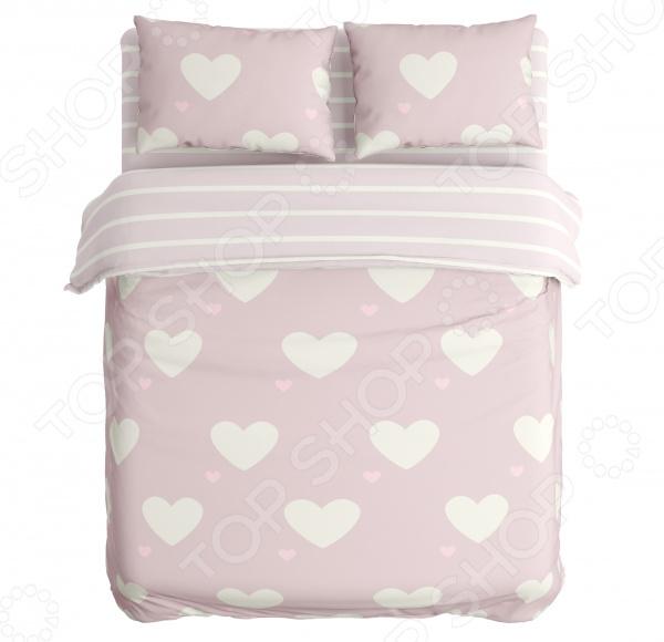 Zakazat.ru: Комплект постельного белья Сирень «Пудровые сердца». Евро