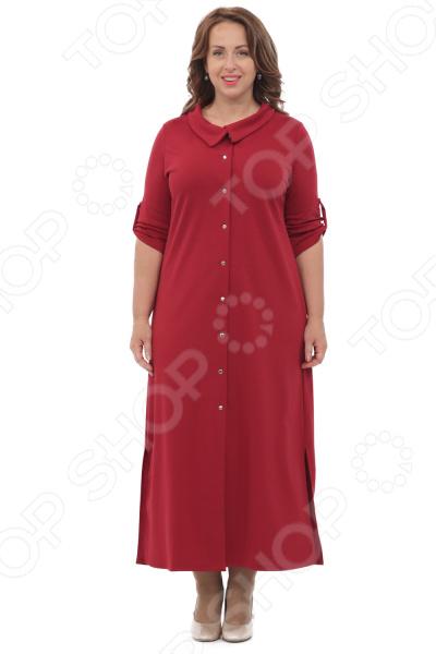 Платье Laura Amatti «Благородная особа». Цвет: бордовый платье laura amatti нежная радость цвет бордовый